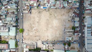 The site planned for future construction is surveyed regularly by GlobalVision drones. We perform technical mission of surveying, technical measurements and mapping orthophotos & DTM.