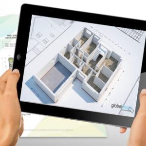 AR app as seen from a tablet